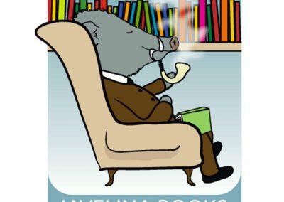 javelina books logo design